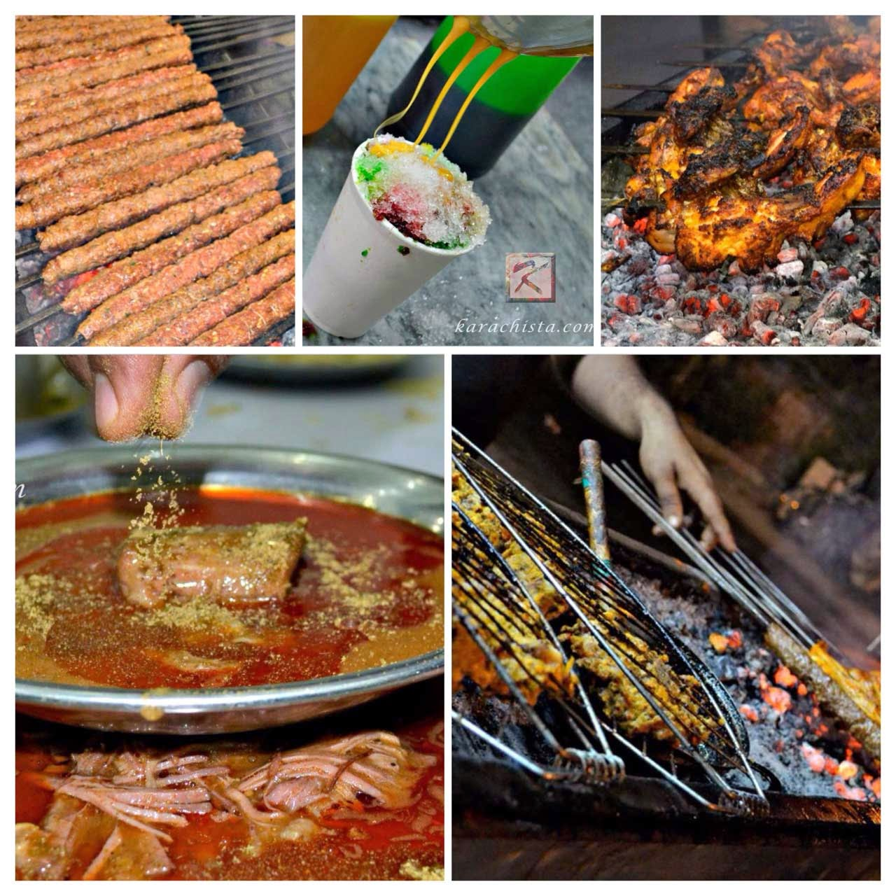 Seekh Kebab, Gola Ganda, Chicken Tikka, Nihari and Live BBQ in Karachi