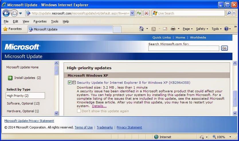 Microsoft Memperbaiki Bug Jahat IE
