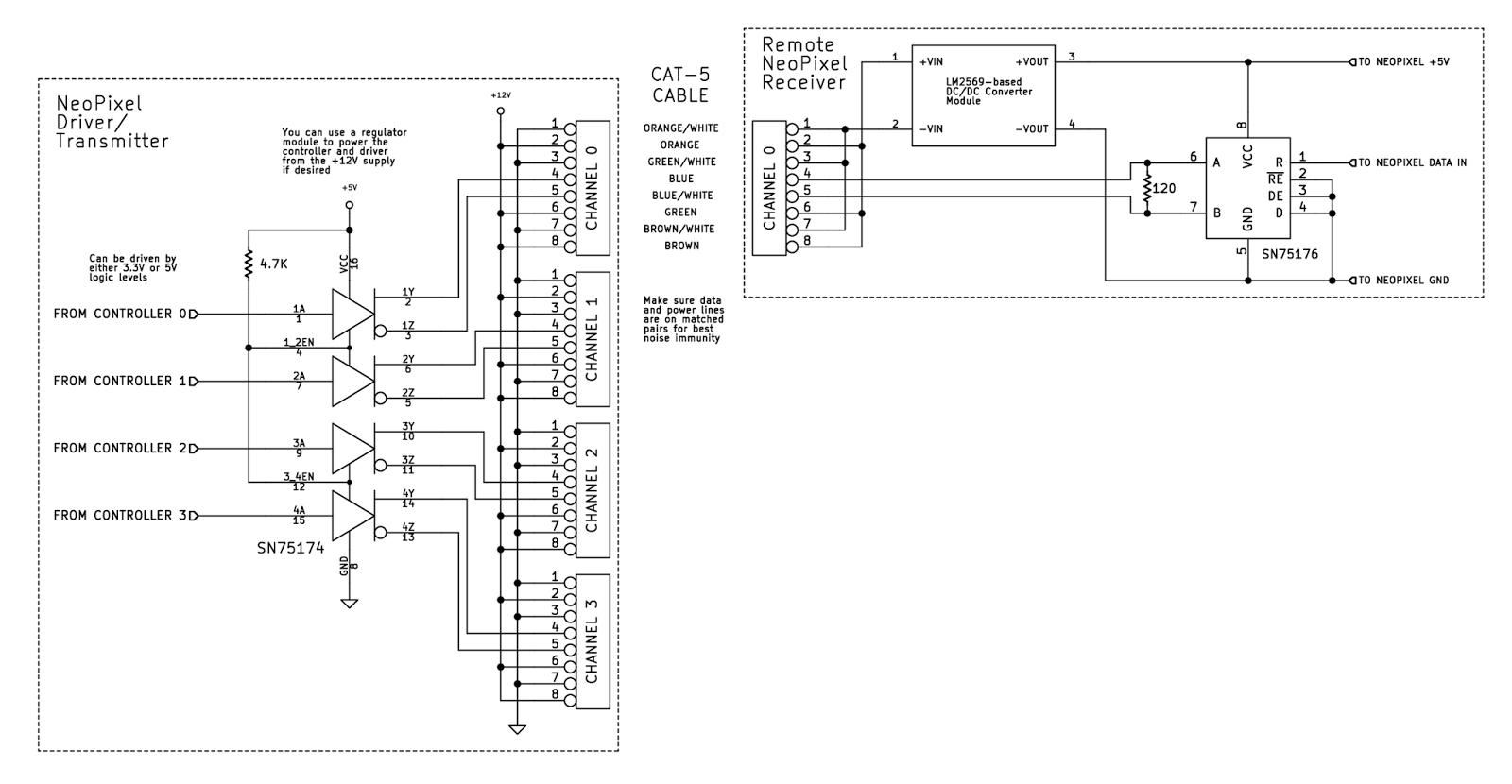 pignose guitar diagram schematic all about repair and wiring pignose guitar diagram schematic teknynja driving ws2812neopixels rgb leds over cat5 ethernet cable rgb cat5