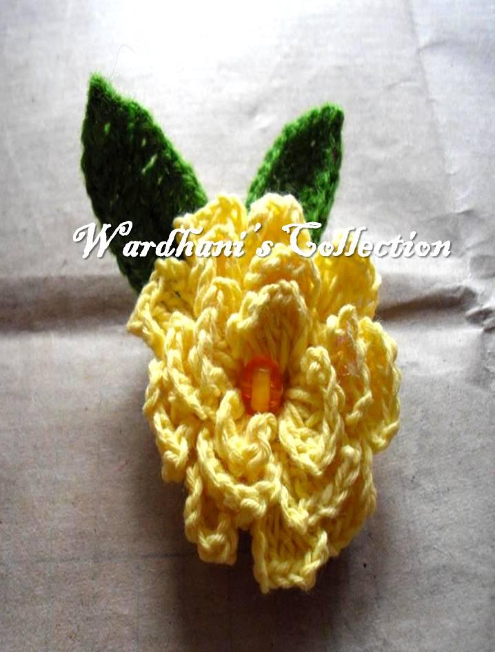 Bros Bunga Kruwel Rajut Murah dan Cantik
