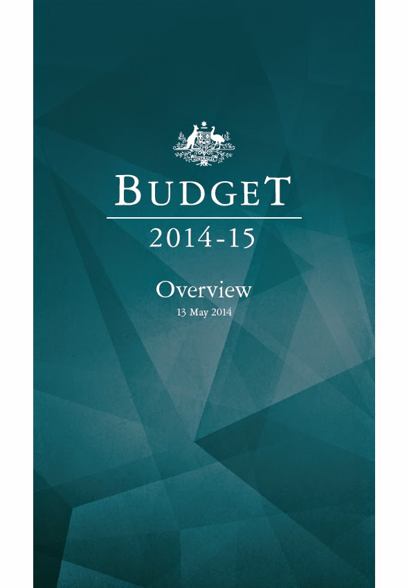 Image of 2014-15 Budget Overview with Green cover. Date 13 May 2014