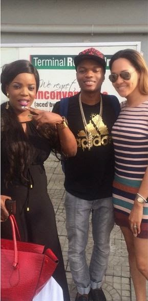[Photos] Empress Njamah Poses With Wizkid and Tania Omotayo