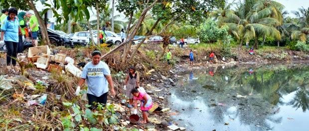 ジョホールバル、「河川をきれいに」キャンペーン