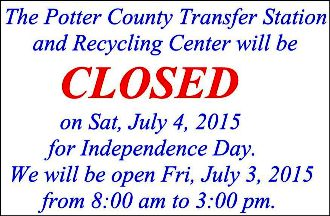 7-3/4 Potter County Recycling