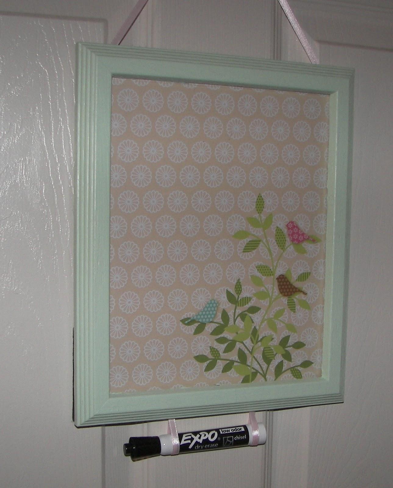 Framed Dry Erase Board Diy Dry Erase Board Angies Suds N Such