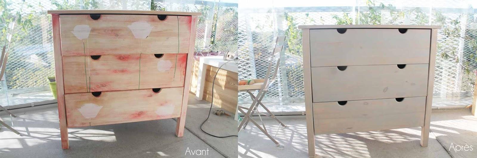 relooker une commode en pin avec du badigeon tuto. Black Bedroom Furniture Sets. Home Design Ideas