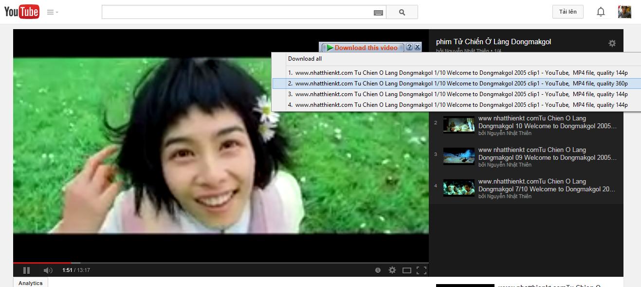 Khắc phục lỗi IDM (Internet Download Manager) không bắt link Youtube trên Google Chrome