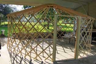 Container garden yurt