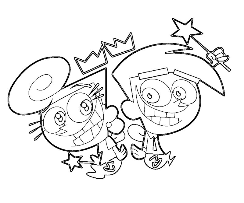 fairly oddparents printable coloring pages - photo#1
