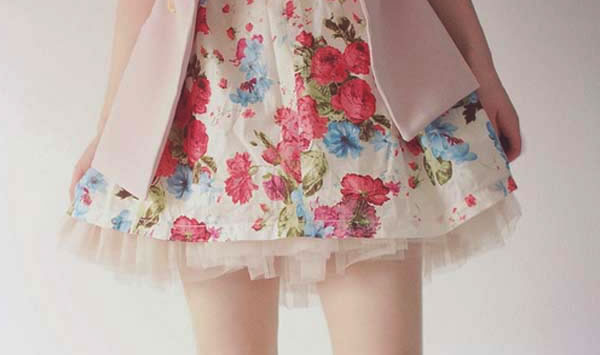 vestido curto estampado