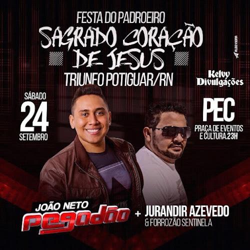 FESTA DO PADROEIRO SAGRADO CORAÇÃO DE JESUS EM TRIUNFO POTIGUAR/RN