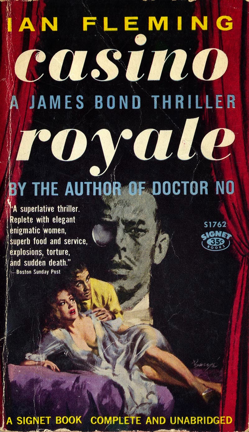 Illustrated Book Cover Art ~ Illustrated the art of james bond original signet