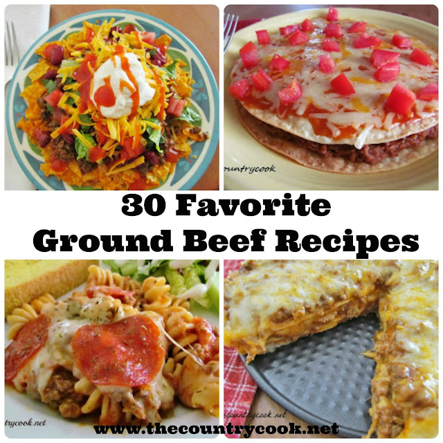 The country cook 30 favorite ground beef recipes for What meals can i make with ground beef