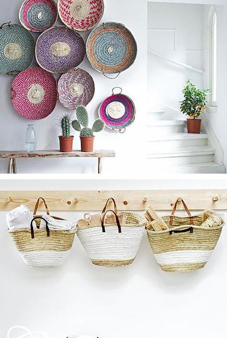 decora y organiza tu de la pared unas cuantas cestas de mimbre o de picnic y llnalas con productos que no necesiten
