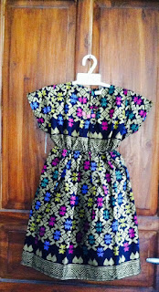 dress batik anak prada