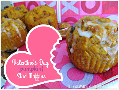 Pumpkin stud muffins for Valentine's Day
