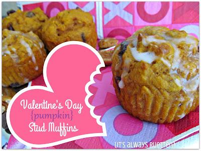 Pumpkin stud muffins for Valentine's Day