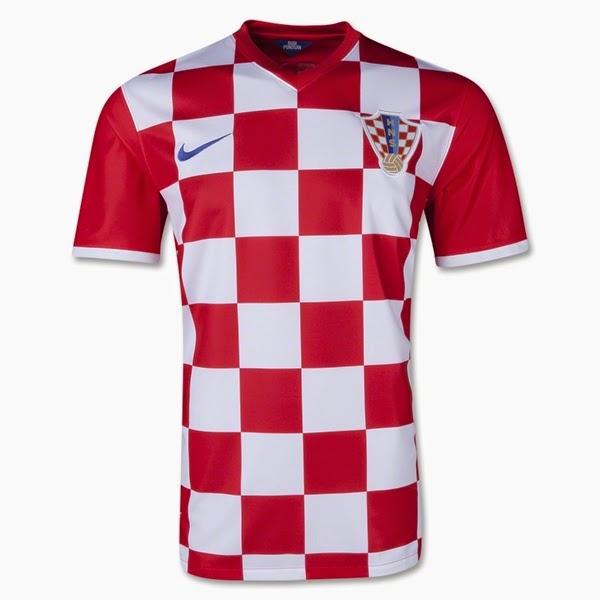 Jersey Negara Croatia - Piala Dunia 2014
