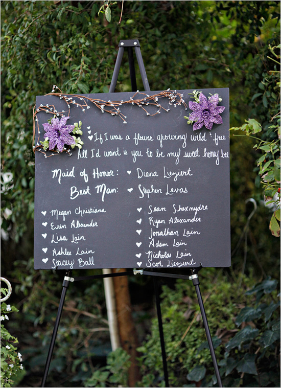 Wedding Party Sign Via The S