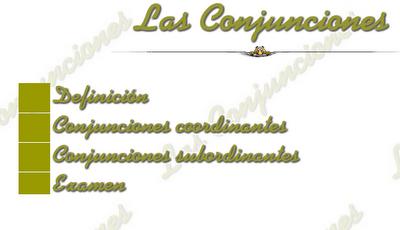 Conjunciones.