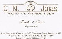 CN jóias - A.V Siqueira Campos, Nº 166 Centro - Fone: 37261448/1185