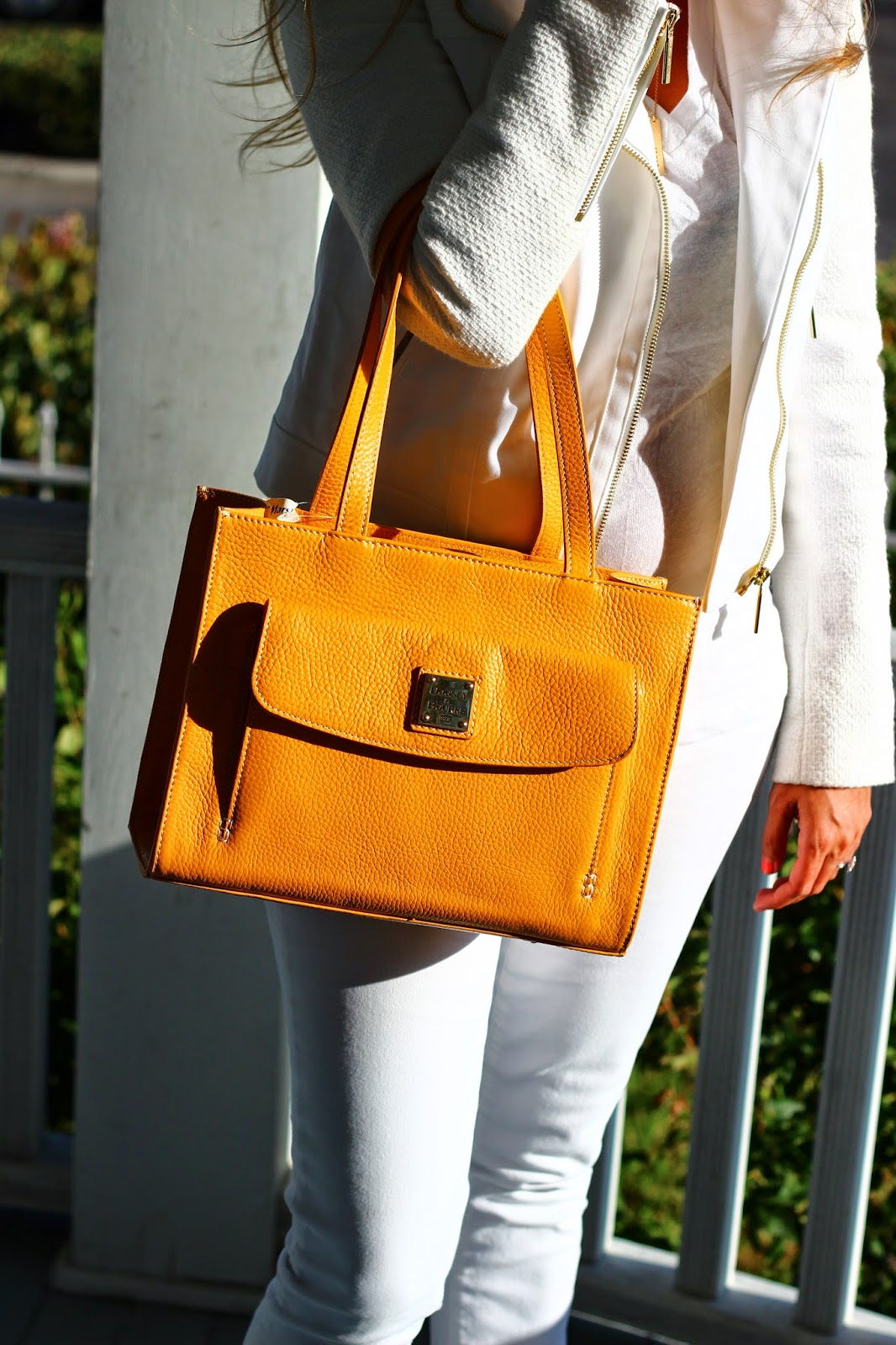 dooney and bourke, yellow tote
