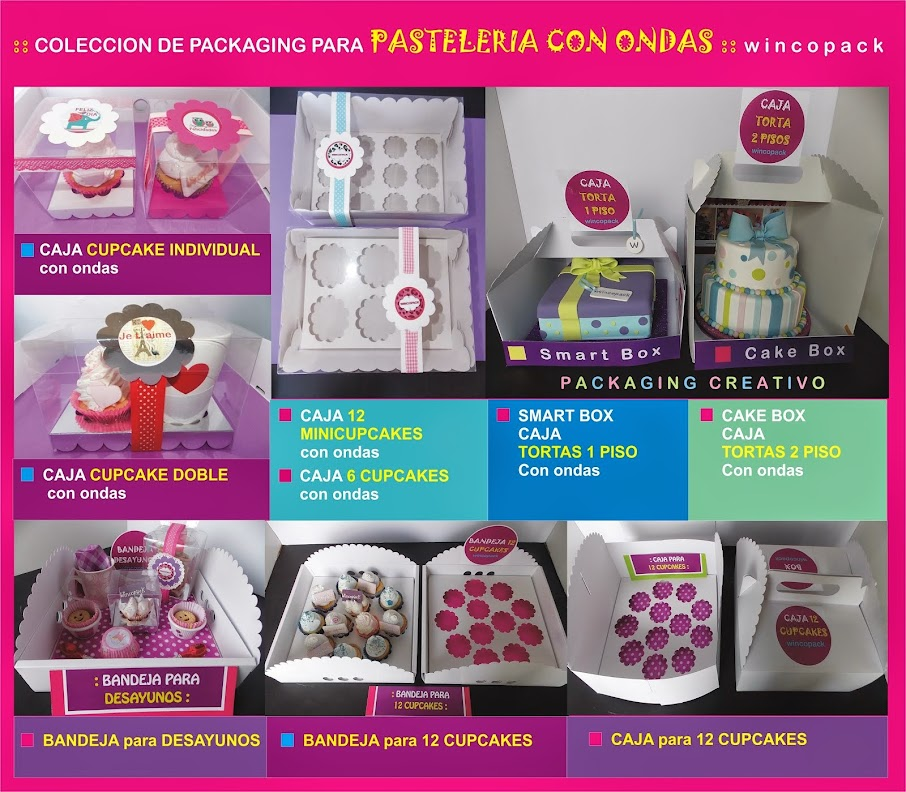 PACKAGING PASTELERIA CON ONDAS