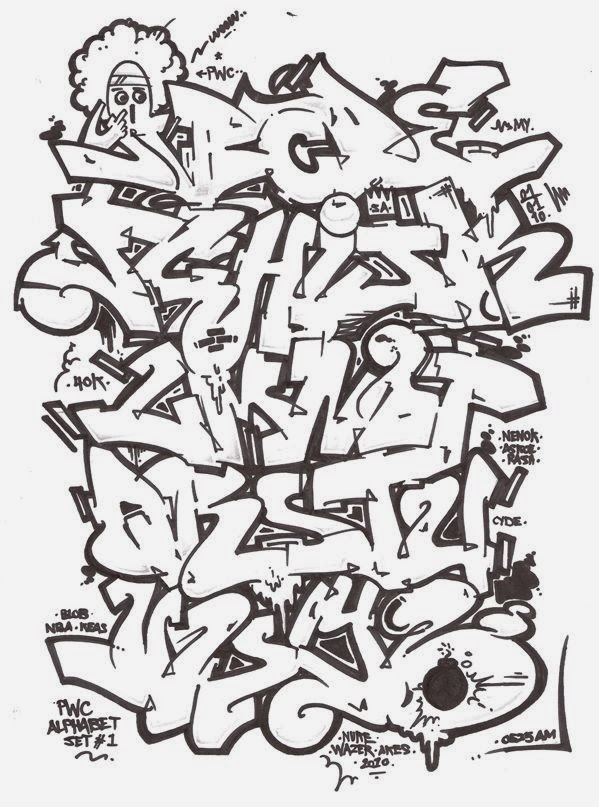 Graffitie Alphabet Graffiti Wildstyle