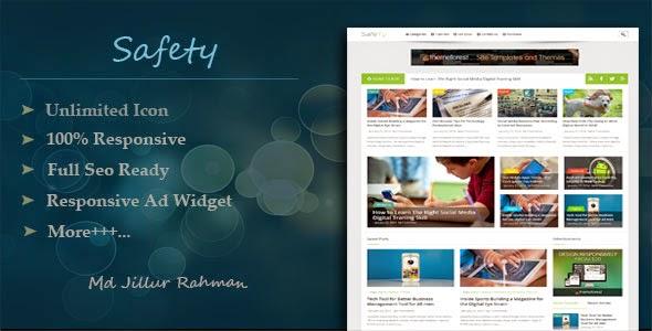 Safety - Template Blogspot Blog cá nhân Responsive đẹp chuẩn SEO 2015