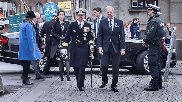 Princess Mary Attends A Memorial Service At Copenhagen Cathedral