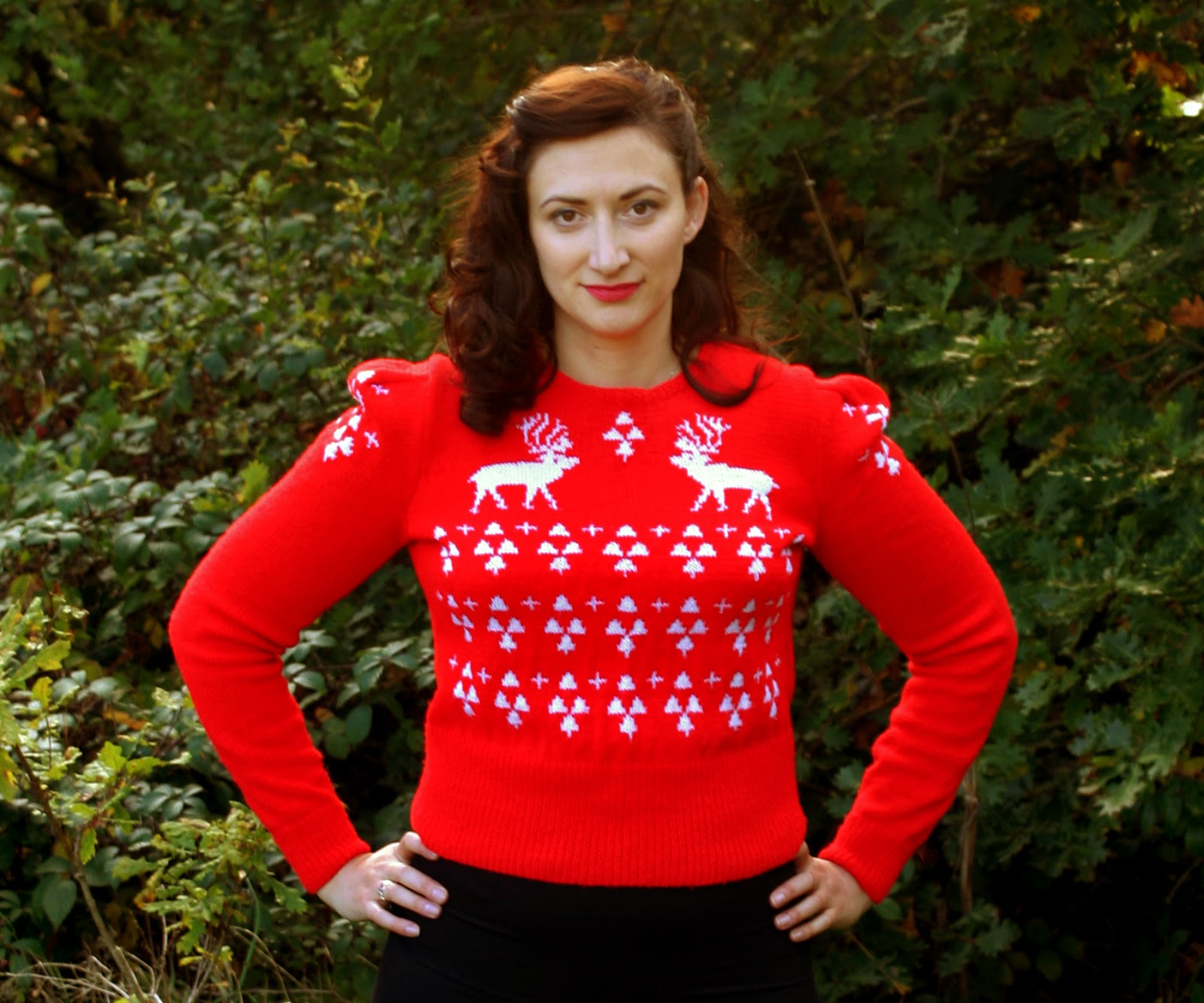 The butterfly balcony knit it the perfect christmas jumper the perfect christmas jumper knitting pattern susan crawford bankloansurffo Image collections