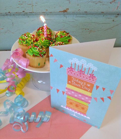 Grab some cupcakes from the bakery to pair with your card.