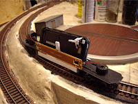 Model railroad scratch built track camera
