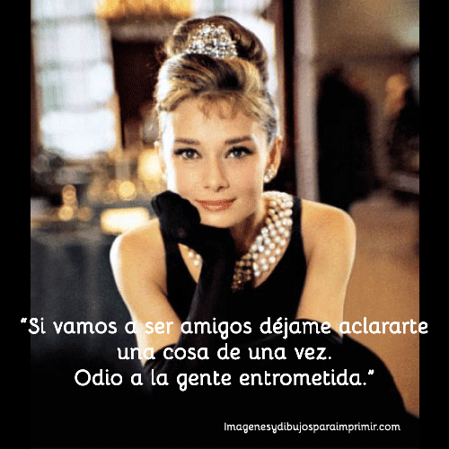 Frase de Audrey Hepburn en desayuno con diamantes