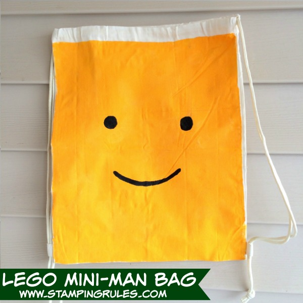 Stamping Rules!: Day 340: Lego Miniman Painted Bag