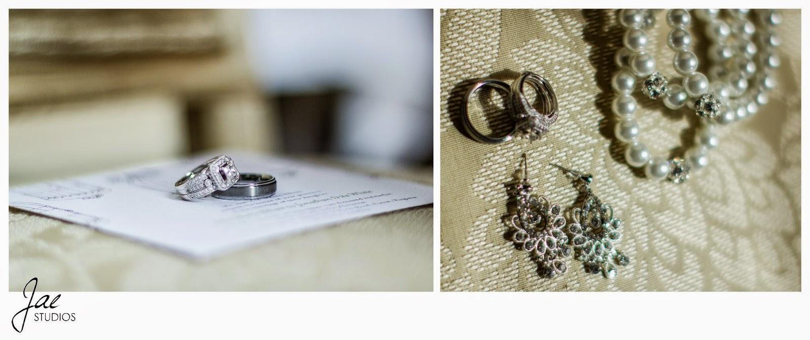 Jonathan and Julie, Bird cage, West Manor Estate, Wedding, Lynchburg, Virginia, Jae Studios, rings, pearls, earrings, necklace, jewelry