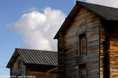 gamla hus, lappland, jukkasjärvi