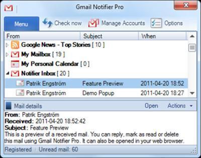 Download Gmail Notifier Pro 5.3.3 Multilingual Portable