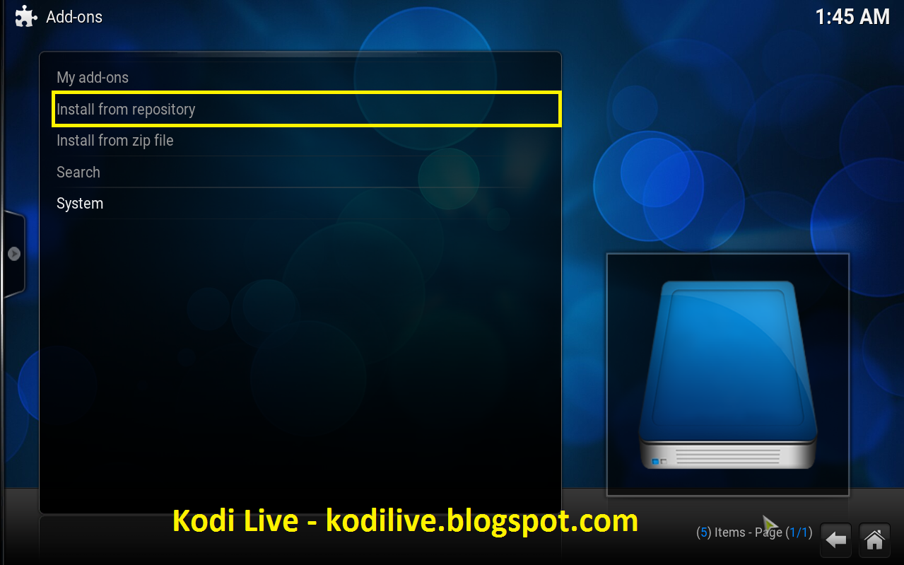 how to download kodi on sony tv