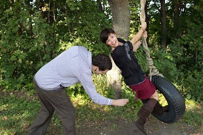 engaged+couple - Apple Orchard Photoshoot