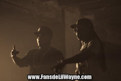 fotos de lil wayne y young jeezy en el rodaje del video de ballin'