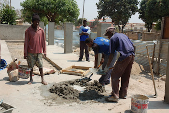 Traditional way to make cement in Angola