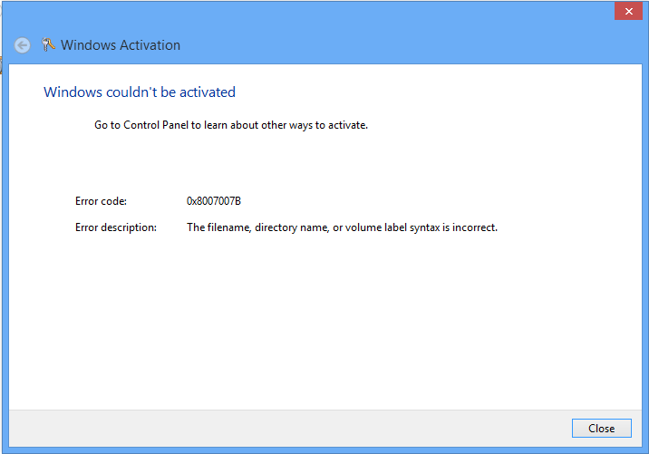 Rbs tech blog windows 8 couldnt be activated the file so even though how many times i tried activating it the results are still the same it couldnt be activated for some reason the solution ccuart Gallery
