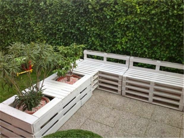 apró gyönyörűségek: Raklapból kerti bútor - 25 ...
