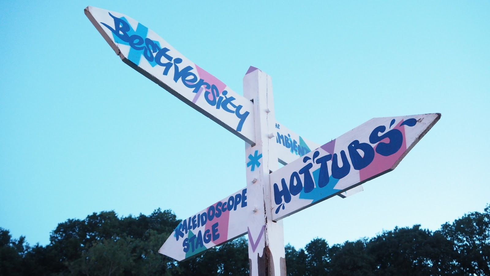 slow motion at bestival sign posts