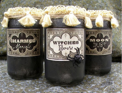 Vintage Spell and Potion Jars