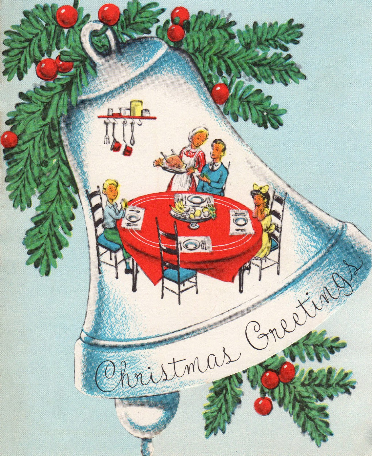 Two crazy crafters vintage christmas bell cards