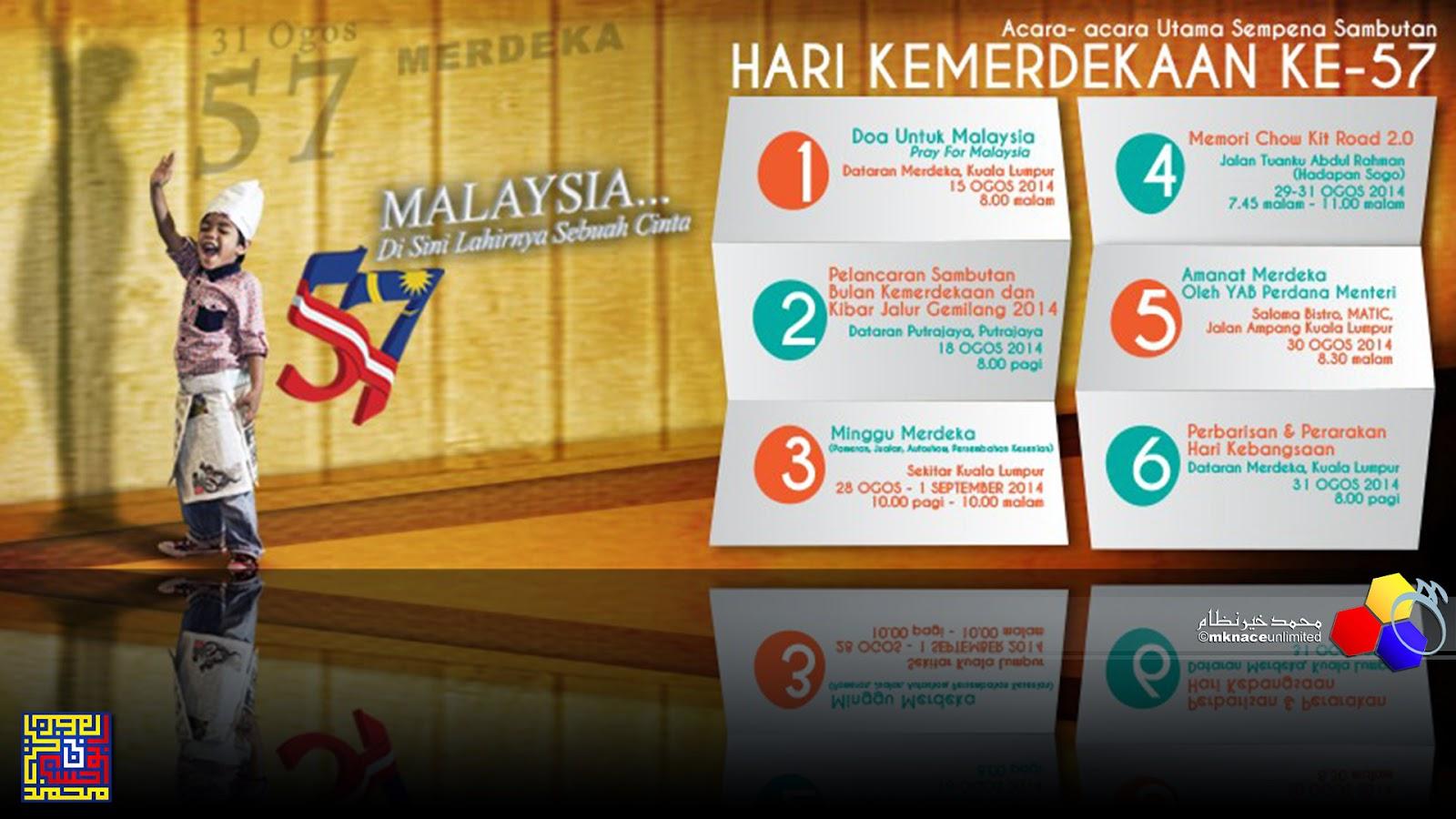 Senarai Lengkap Aktiviti dan Program Sempena Sambutan Kemerdekaan Ke 57