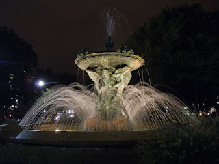 Fountain in City Hall Park in downtown Providence, Rhode Island