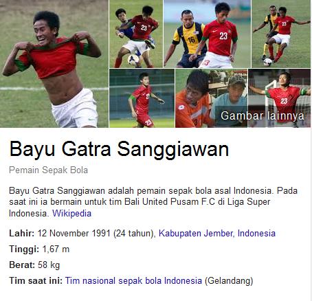 Bayu Gatra Sanggiawan Profil Biografi Pemain Sepak Bola Dunia
